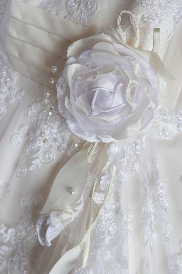 brudklänningfragment arkivbild