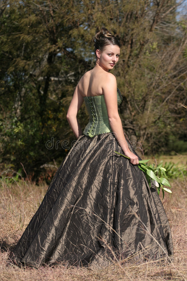brudklänninggreen arkivfoto