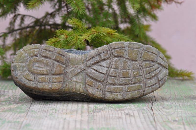 Brudna działanie butów podeszwa obrazy royalty free