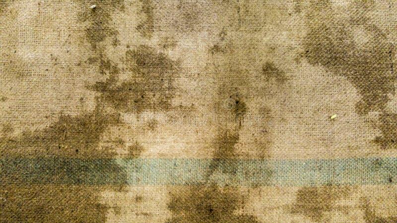 Brudna konopie worka powierzchnia tworzył teksturę i tło fotografia stock