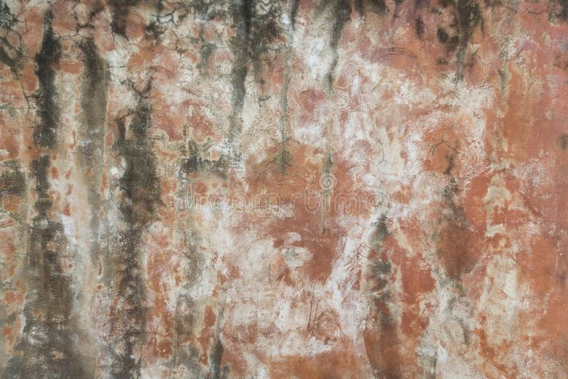 Brudna pomarańczowa betonowa ściana obrazy royalty free