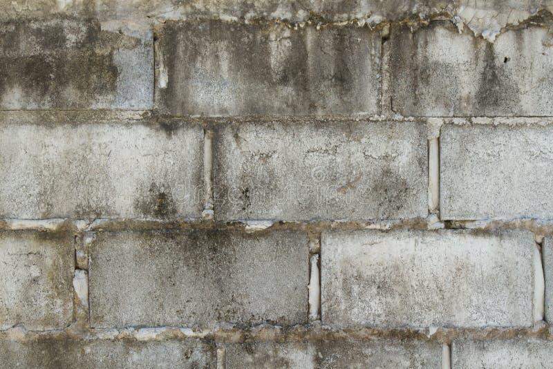 Brudna Popielata betonowy blok ściana obrazy stock