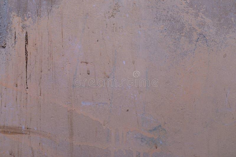 Brudna popielata wypełniająca beton ściana obrazy stock