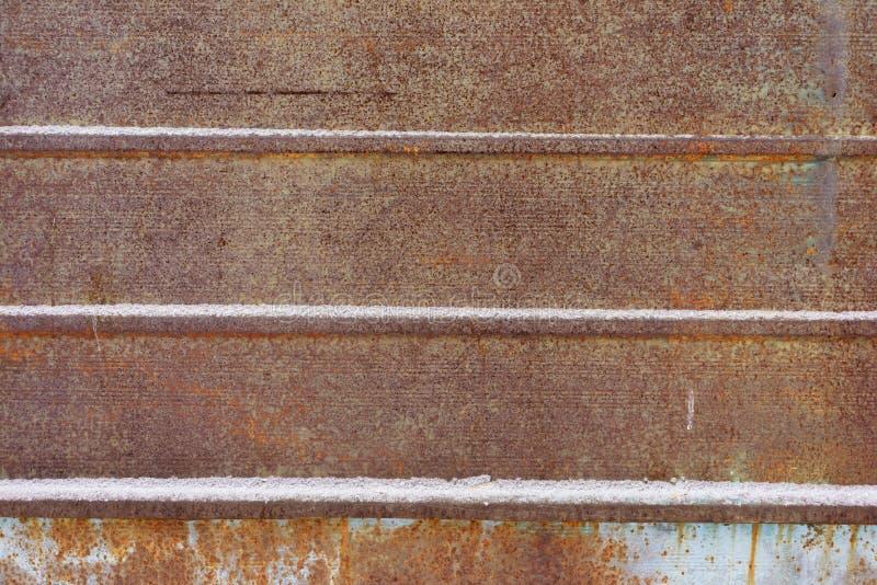 Brudna, stara metal powierzchnia, Popielata grunge tekstura z bliska royalty ilustracja