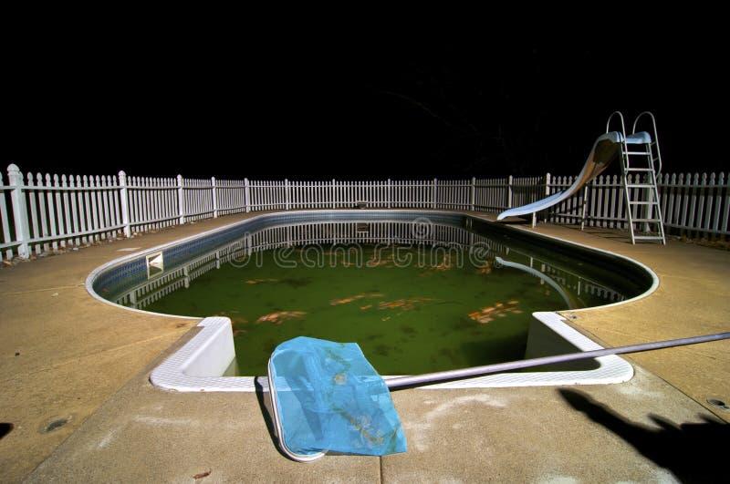 brudnego basenu dopłynięcie obraz royalty free