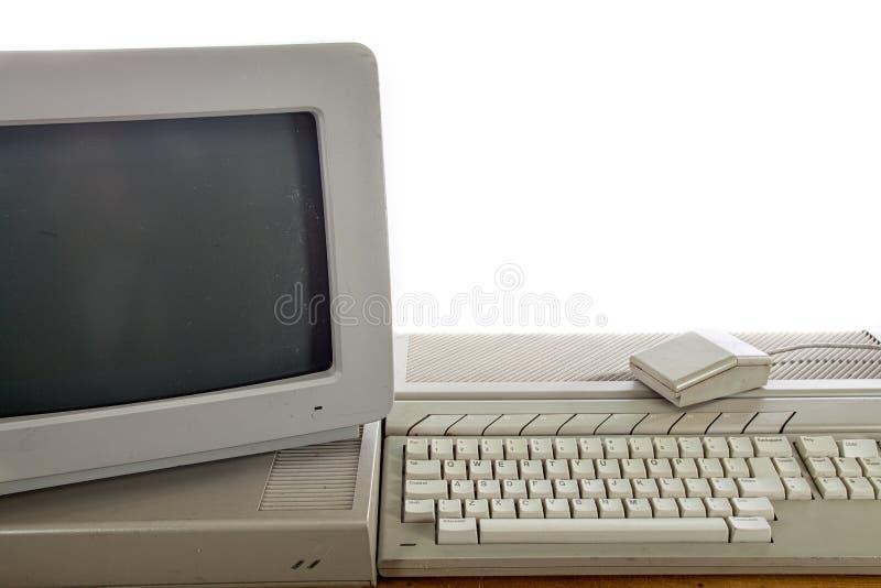 Brudnego rocznika ministerstwa spraw wewnętrznych systemu komputerowego Przestarzały retro computi obraz royalty free