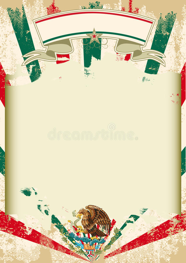 Brudni meksykańscy sunbeams plakatowi royalty ilustracja