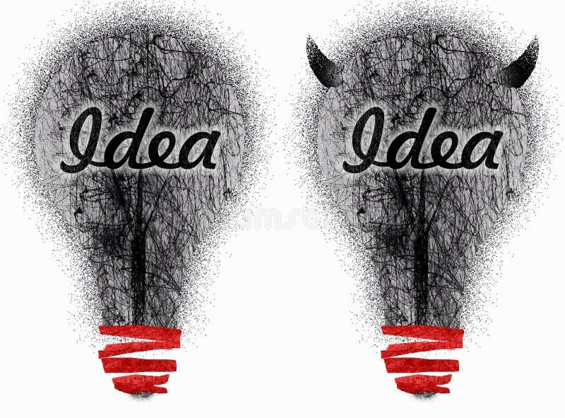 brudni pomysły dwa bardzo ilustracja wektor