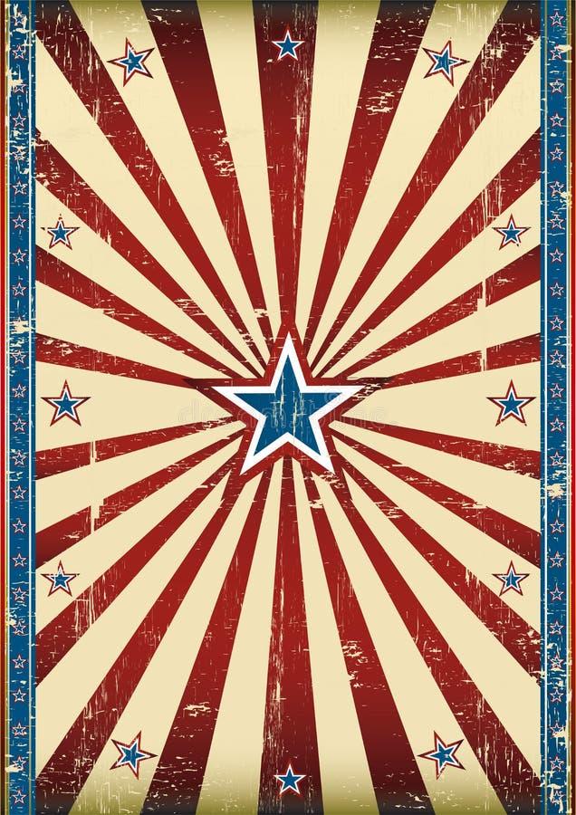 brudny Amerykanina plakat ilustracji