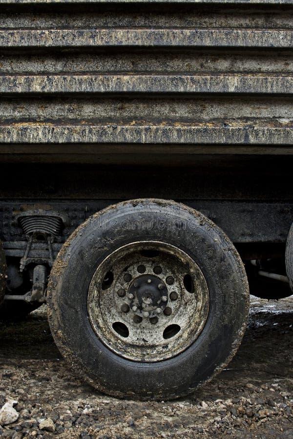 brudny muddy ciężarówkę. obraz stock