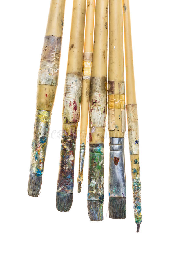 Brudny paintbrushe zdjęcie royalty free