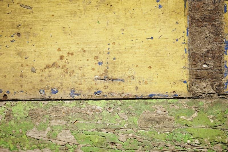 Brudny stary żółty drewniany tło Tekstura drewniany use jako naturalny t?o fotografia stock