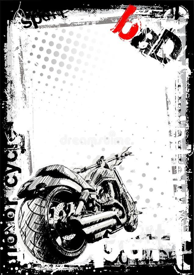 brudny tło motocykl ilustracja wektor