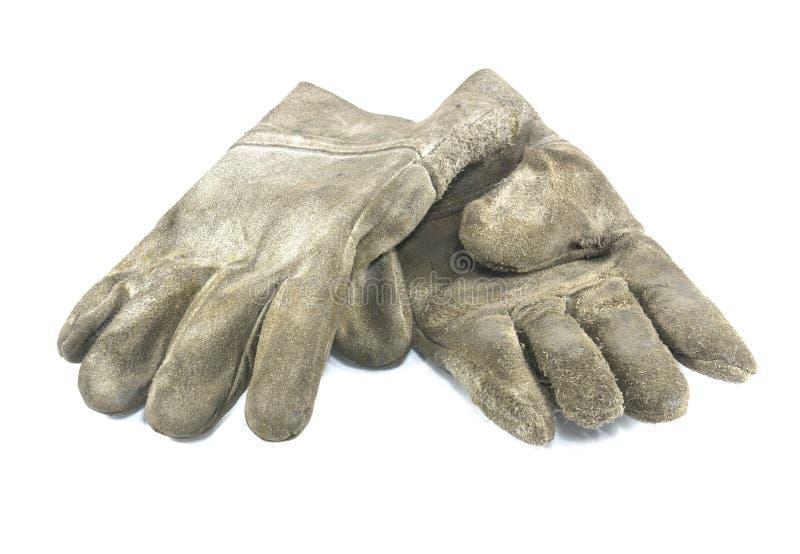 brudnych rękawiczek stara praca zdjęcie stock