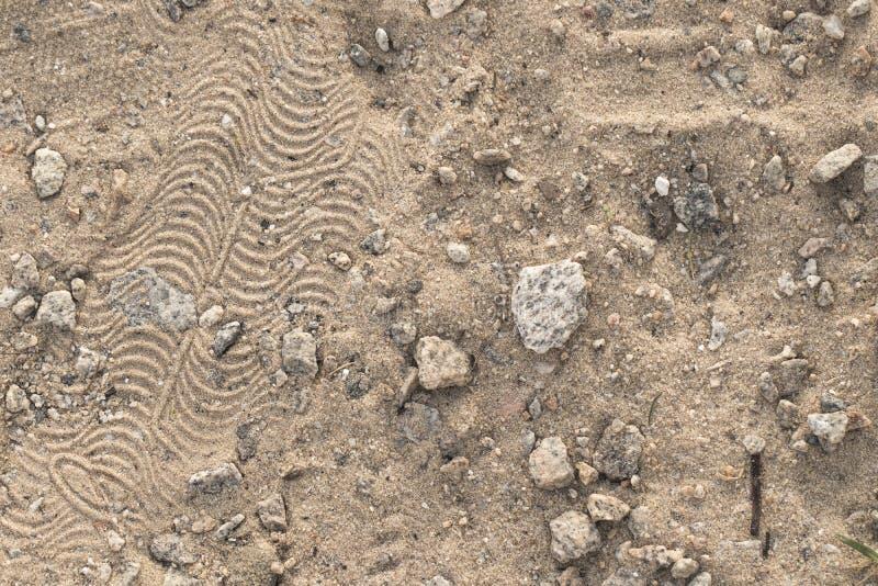 Brudu piaska tekstura od odgórnego widoku Makro- fotografia zdjęcie stock