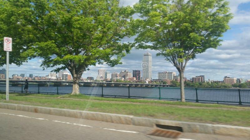 Brug aan Boston stock afbeeldingen