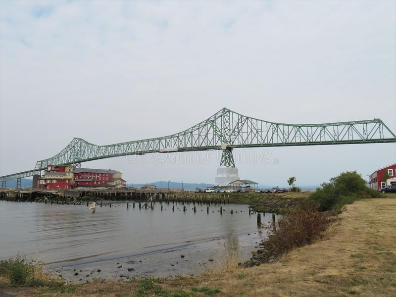 Brug astoria-Megler, een staalcantilever door bundelbrug tussen Astoria, Oregon en Washington stock afbeeldingen