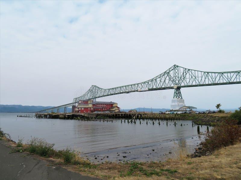 Brug astoria-Megler, een staalcantilever door bundelbrug tussen Astoria, Oregon en Washington royalty-vrije stock foto