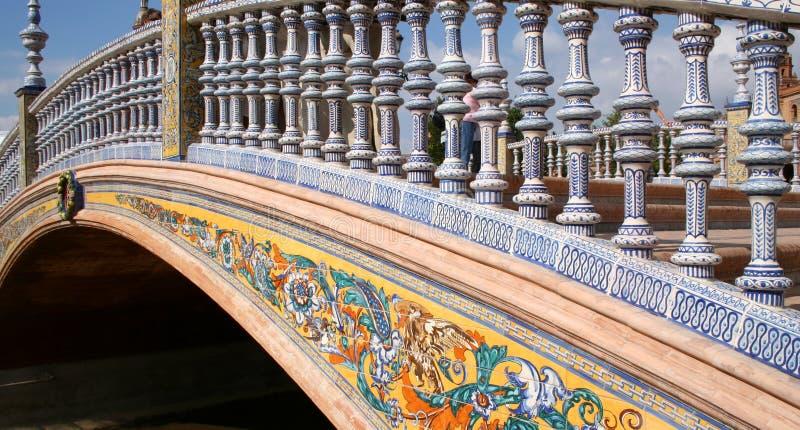 Brug bij Promenade Espana. royalty-vrije stock foto