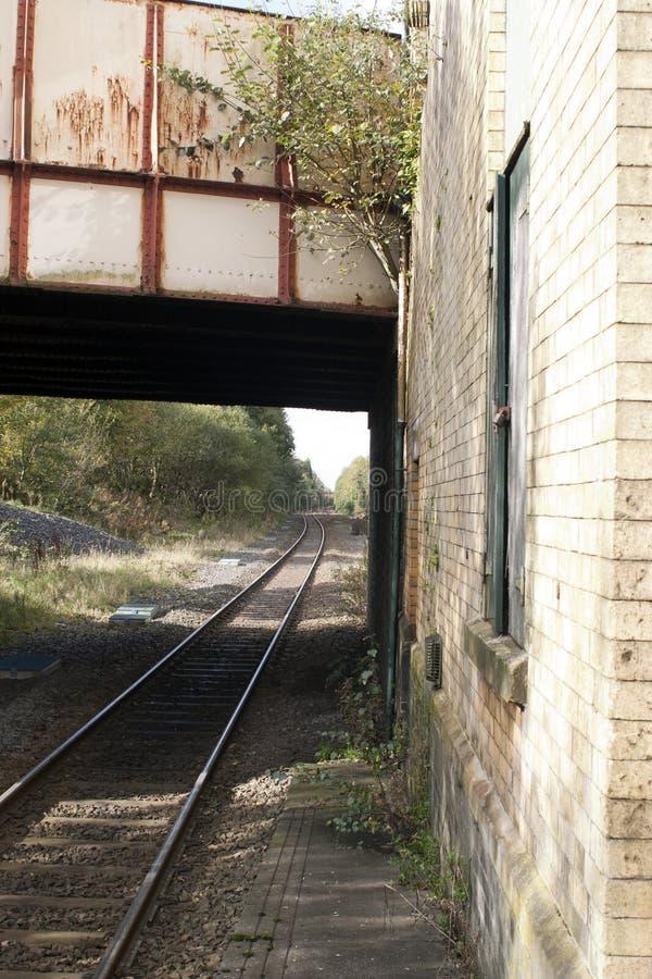 Brug en treinspoor royalty-vrije stock fotografie