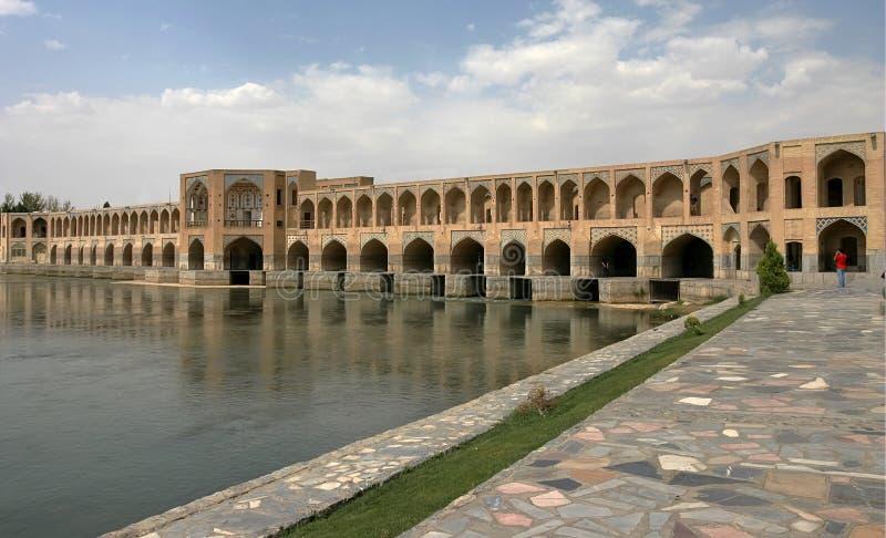 Brug in Esfahan. Iran stock foto