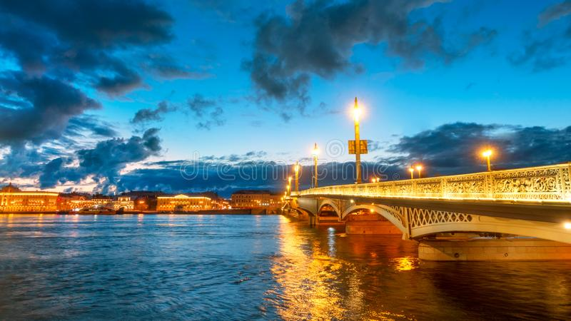 Brug Heilige Petersburg stock foto