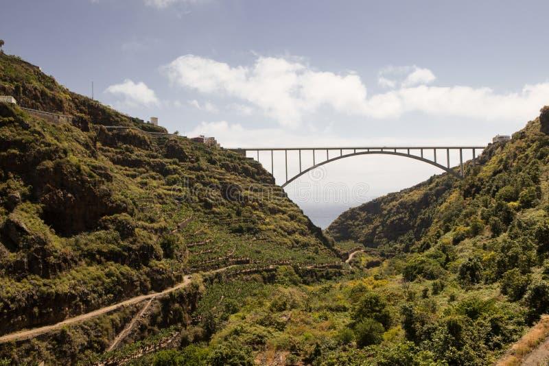Brug in La Palma, Canarische Eilanden spanje stock foto
