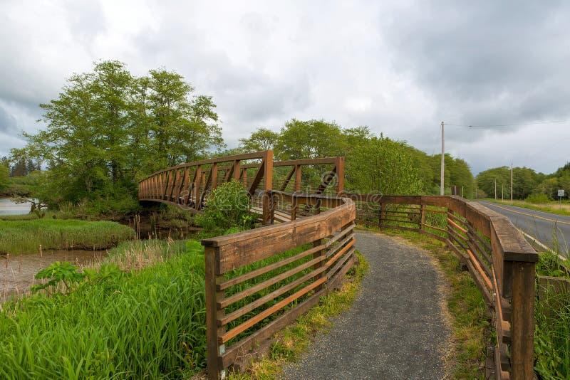 Brug langs Lewis en Clark Hiking Trail royalty-vrije stock afbeeldingen