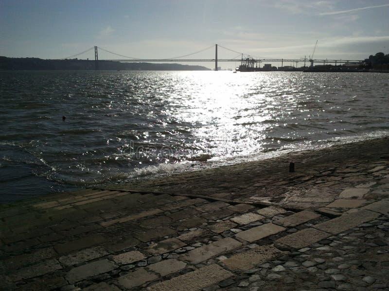 Brug in Lissabon stock foto