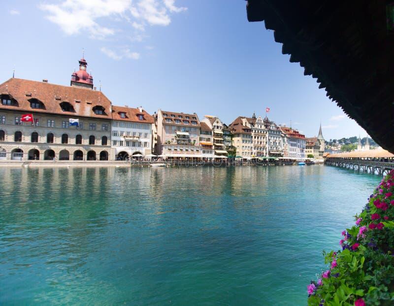 Brug in Luzern royalty-vrije stock afbeeldingen