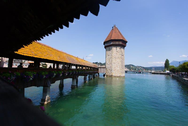 Brug in Luzern stock foto