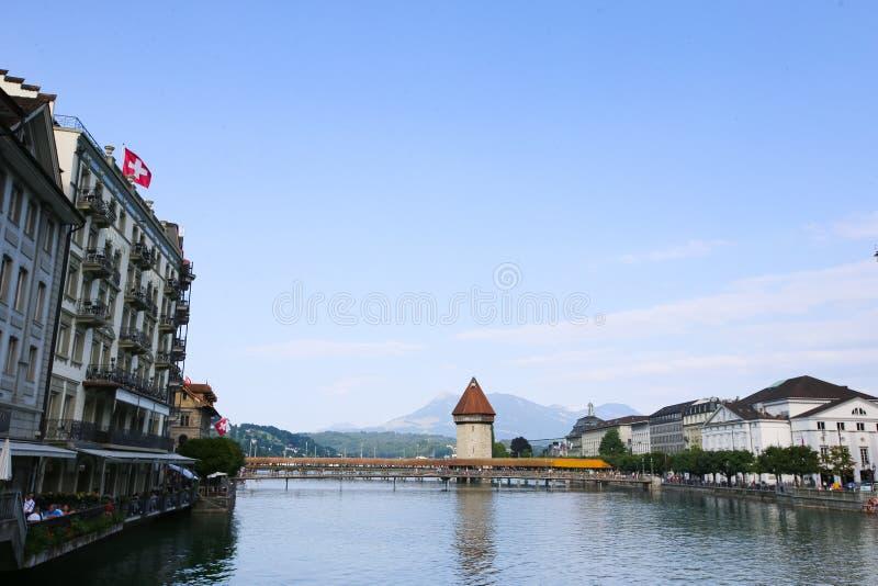 Brug in Luzern royalty-vrije stock foto's