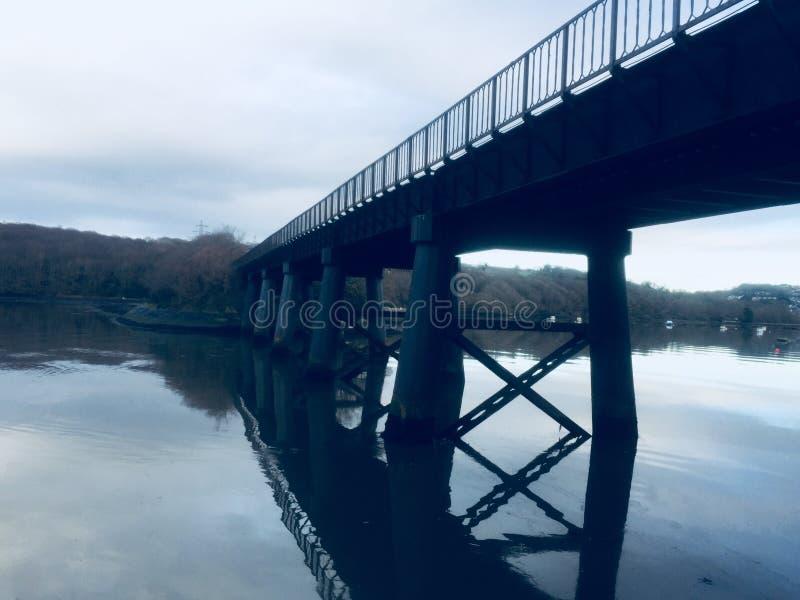 Brug op de rivier Tamar Devon royalty-vrije stock foto's
