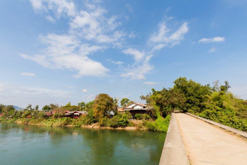 Brug op Don Khon Laos royalty-vrije stock foto's