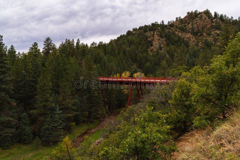 Brug op Phantom Canyon Road royalty-vrije stock foto