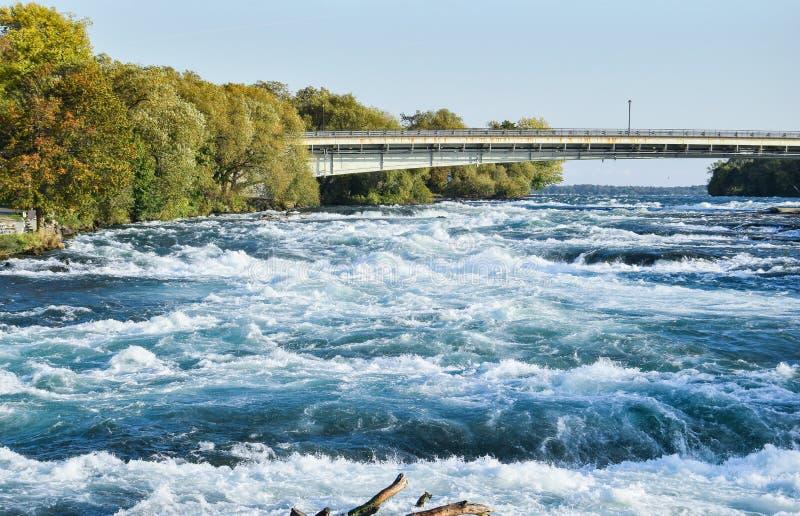 Brug over de Niagara-Rivier zonder mensen royalty-vrije stock afbeeldingen