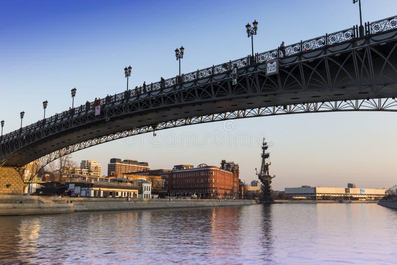 Brug over Moskou-Rivier, Moskou royalty-vrije stock foto's