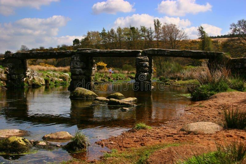 Brug over water, Devon stock foto's