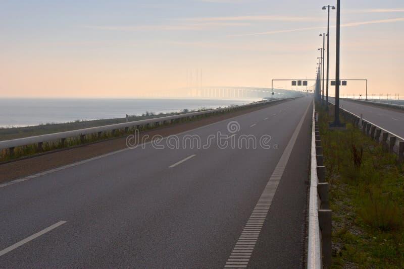 Brug tussen Denemarken en Zweden royalty-vrije stock fotografie
