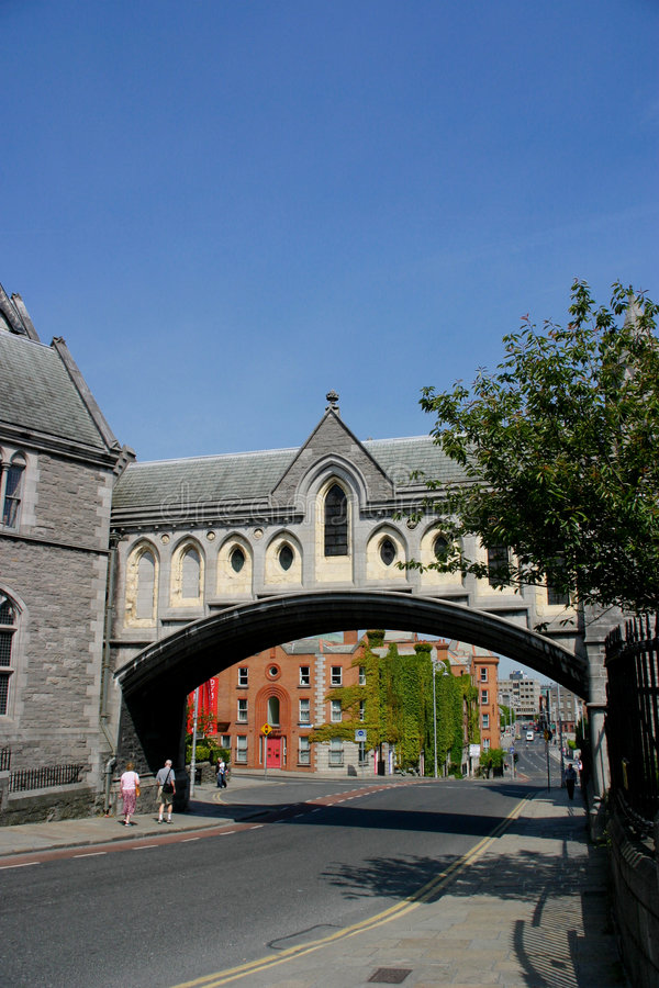 Brug van de Kathedraal Dublin van de Kerk van Christus royalty-vrije stock foto's