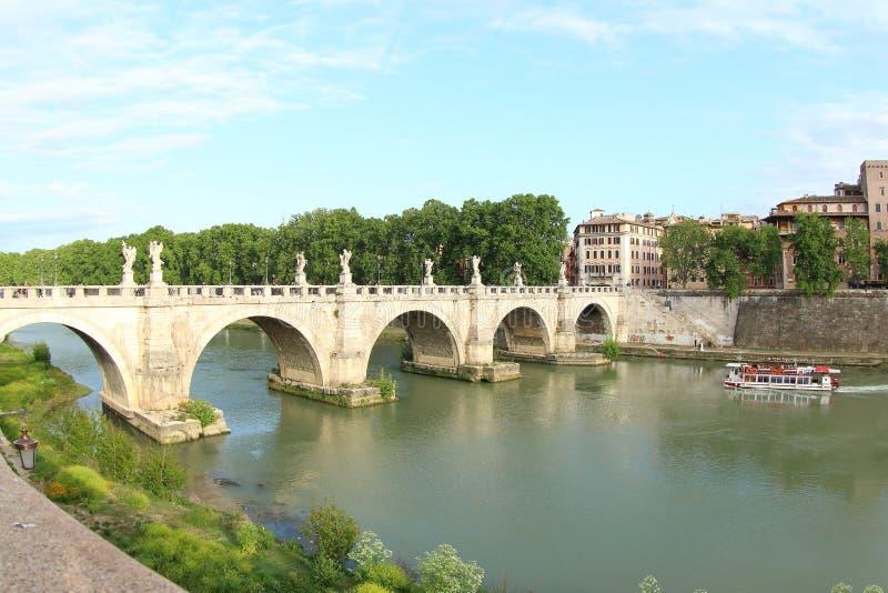 Brug van Engelen, Rome stock fotografie