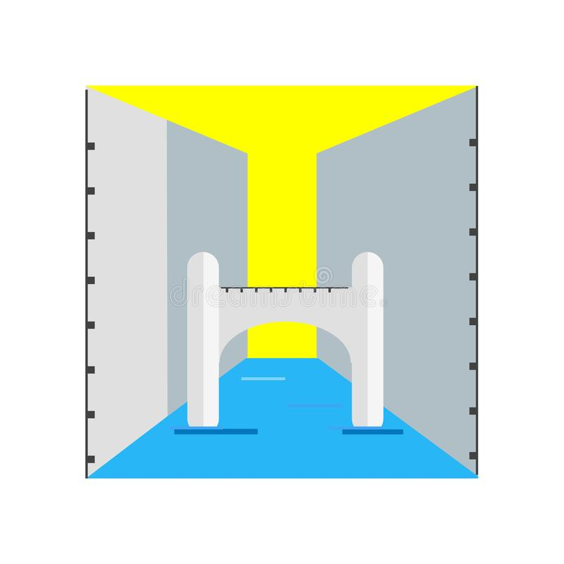 Brug van sighs pictogram vectordieteken en symbool op witte bedelaars wordt geïsoleerd stock illustratie