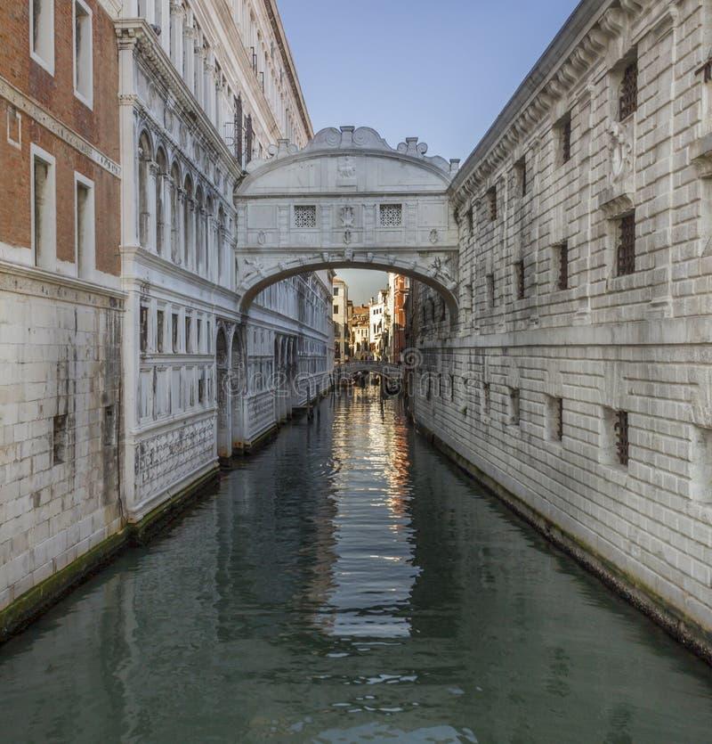 Brug van Sighs, Ponte-dei Sospiri in Venezia, Venetië Italië royalty-vrije stock afbeeldingen