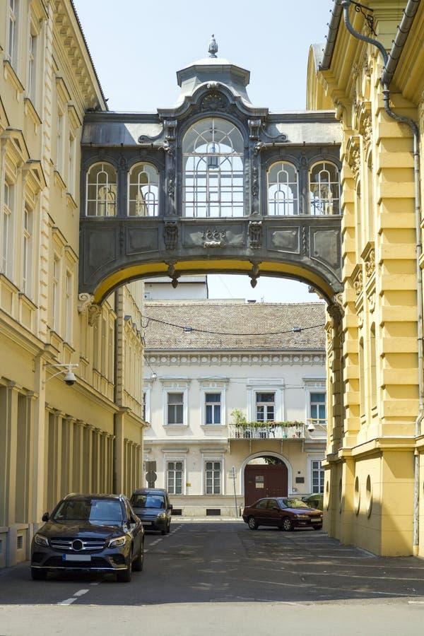 Brug van Sighs in Szeged stock afbeelding