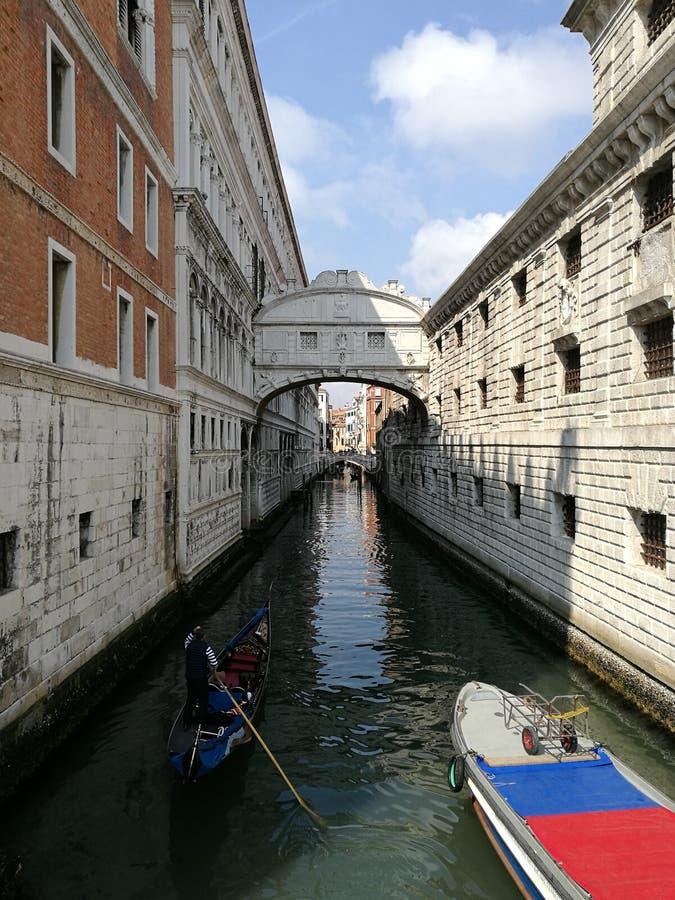 Brug van Sighs Venetië royalty-vrije stock foto