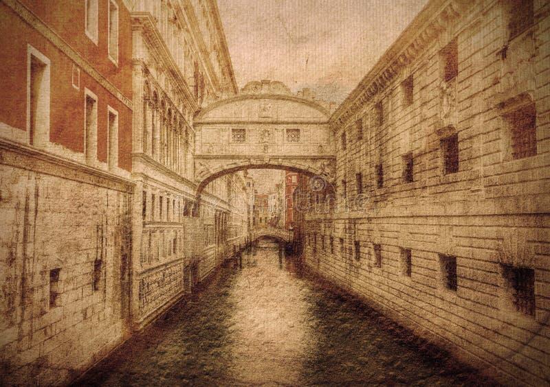 Brug van sighs Venetië Italië stock foto's