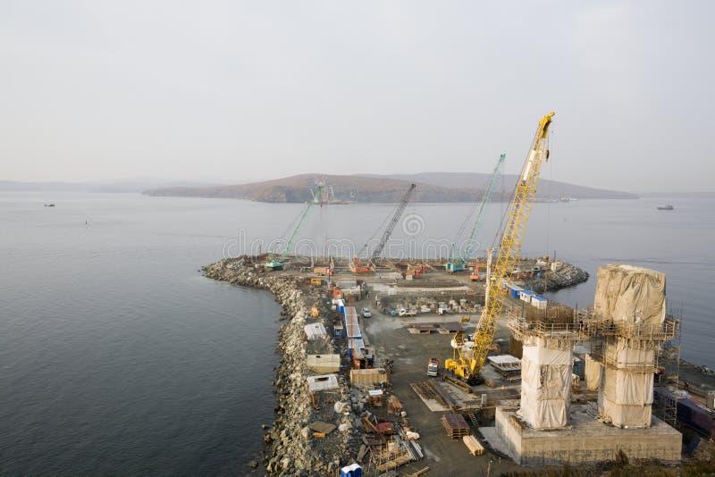 Brug Vladivostok royalty-vrije stock afbeelding