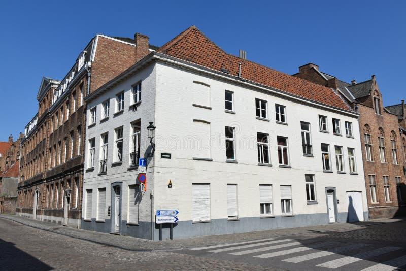 Bruges är precis några kilometer från Bryssel royaltyfria foton
