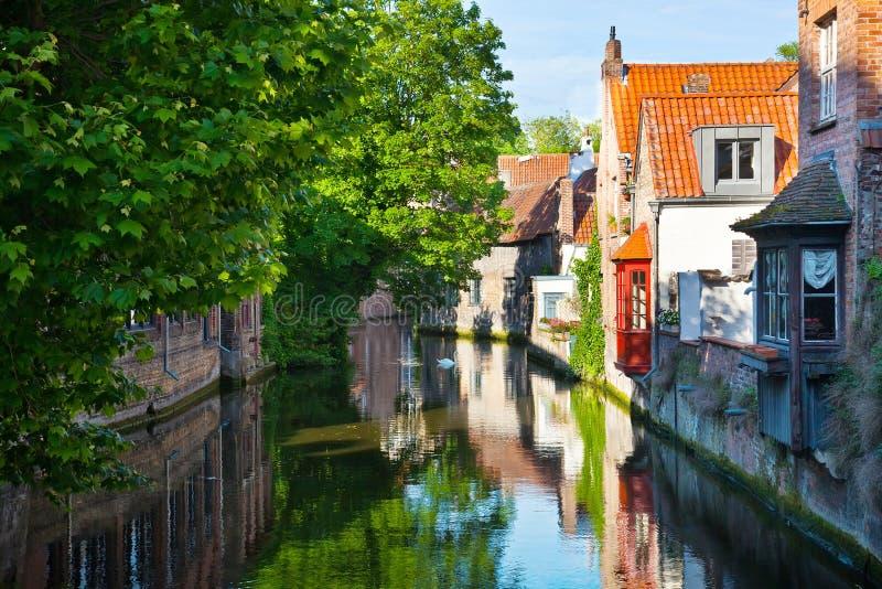 Bruges, średniowieczny miasto w Belgia fotografia royalty free