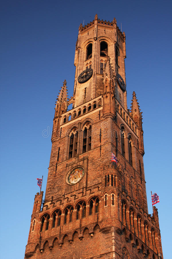 Bruges belfry royalty free stock photo